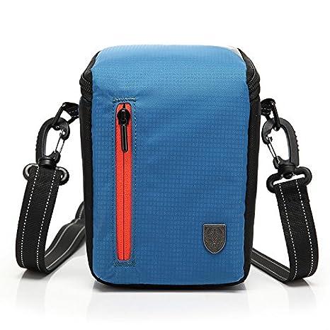 First2savvv BDV2503 6407 blau Luxus Qualität Anti Shock Nylon Kameratasche für Canon PowerShot SX420 SX410 EOS M10 EOS M3. G1X Mark II