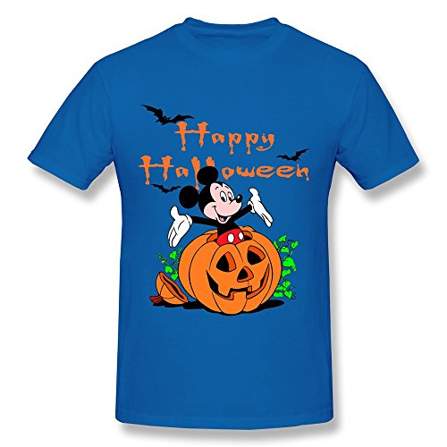 WunoD Men's Happy Halloween Mickey Mouse T-shirt Size (Allen Halloween Mickey Mouse)