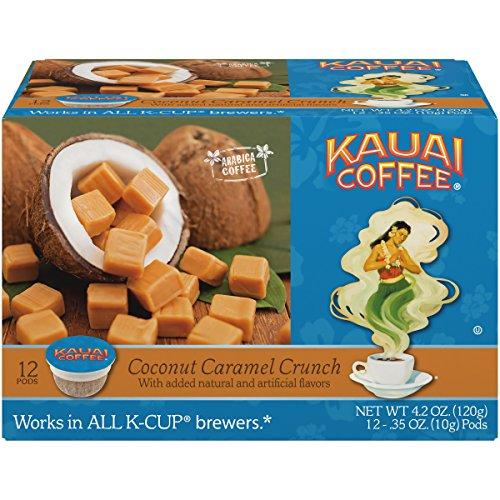 Coconut Macadamia Coffee (Kauai Coffee Coconut Caramel Crunch, Single Serve 12 Count (Pack of 6))