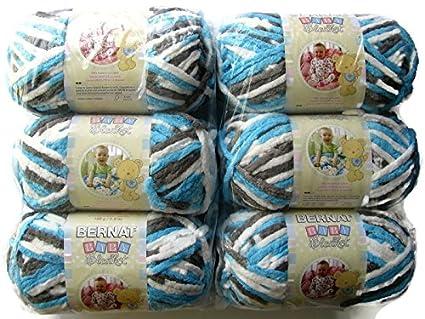 BERNAT Baby Blanket Yarn, 3 5oz, 6-PACK (Sail Away)