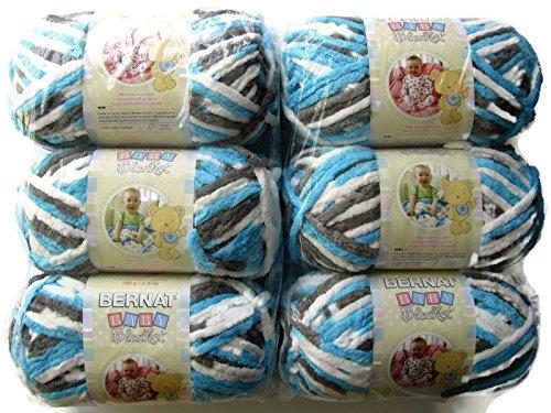 (BERNAT Baby Blanket Yarn, 3.5oz, 6-PACK (Sail Away))