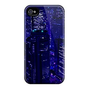 High Quality Shock Absorbing Case For Iphone 4/4s-beautiful Dark Cityscape by icecream design