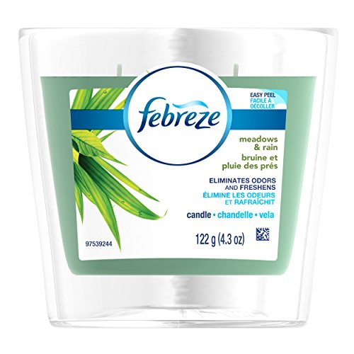 Febreze  Air Freshener, Scented Air Freshener Candle, Meadows and Rain Air Freshener, 4.3 (Wholesale Country Air Scented Candle)