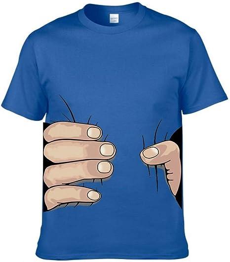 JJZHY Camiseta de Manga Corta de Dibujos Animados Camiseta Complicada Algodón Peinado Algodón Hombre: Amazon.es: Deportes y aire libre