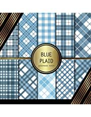 Scrapbook Paper: Blue Plaid: Double Sided Craft Paper For Card Making, Origami & DIY Projects | Decorative Scrapbooking Paper Pad