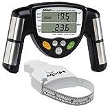 Omron HBF-306C BodyLogic Pro Hand Held Body Fat Monitor Black with MT05 MyoTape Body Tape