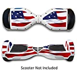 Protective Vinyl Decal Skins for 2 Wheels Self Balancing Electric Scooters - Stickers for Hover Board Skateboard - Covers for Smart Bluetooth Mobility Scooter - Star & Strips