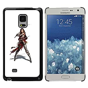 Paccase / SLIM PC / Aliminium Casa Carcasa Funda Case Cover - Samurai Warrior Swordsman Woman - Samsung Galaxy Mega 5.8 9150 9152