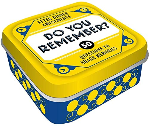Chronicle Books After Dinner Amusements: Do You Remember? 50 Questions to Share Memories (Conversation Game for Family and Friends, Gift for Host or Hostess) from Chronicle Books