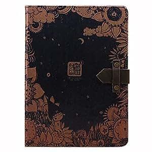 Auto Sleep Pattern The Night Secret PU Leather Case cuerpo completo con zurriago verdadero de la hebilla y soporte para el iPad Aire