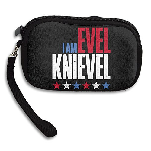 Evel Knievel Costume Women (Evel Knievel Fancy Coin Purse Cards Case With Zipper Closure)