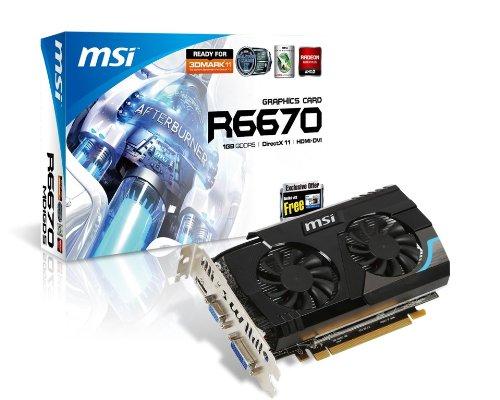 MSI ATI Radeon HD6670 1 GB DDR5 VGA/DVI/HDMI PCI-Express Video Card R6670-MD1GD5