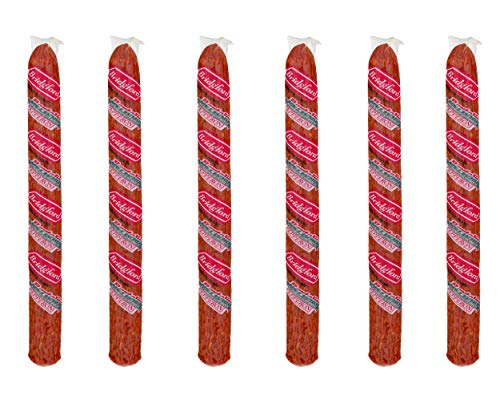 Bridgford Old World Pepperoni Stick, Made in the USA, 16 Oz, Pack of 6