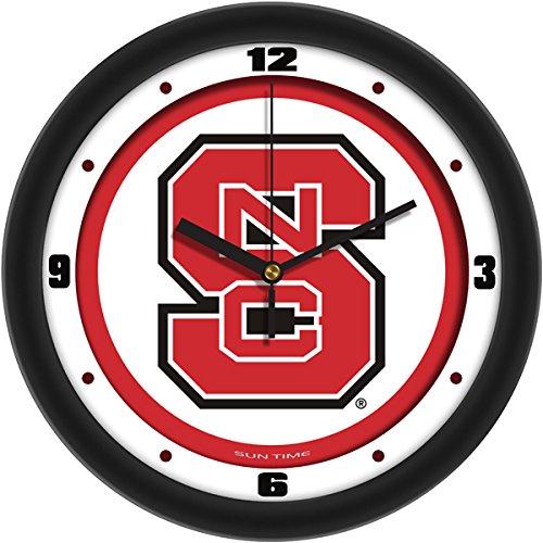 (SunTime NCAA North Carolina State Wolfpack Traditional Wall Clock)