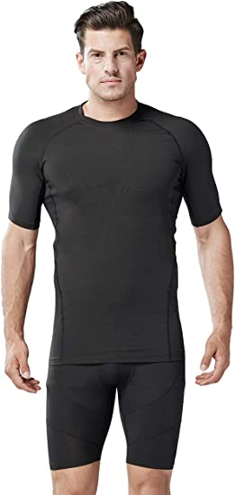 Mens Dry Fit Short Sleeve Shirts Base Layer Crewneck T-Shirt for Fitness Running Sports
