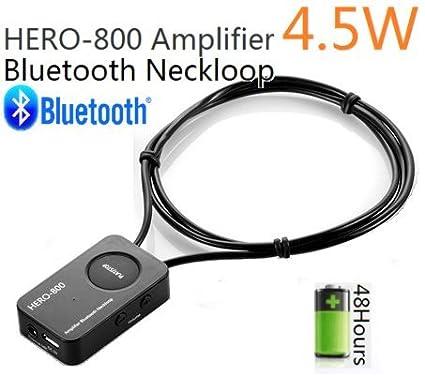 HERO-800 - Amplificador Profesional Bluetooth DE 4,5 W (Puede Trabajar con