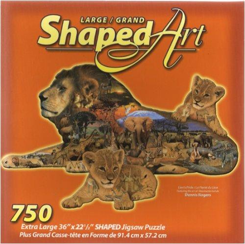 Lion's Pride - Large Shaped Art Jigsaw Puzzle - 750 Pieces