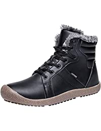 Womens Mens Snow Boots Winter Fur Boots Waterproof Ankle...