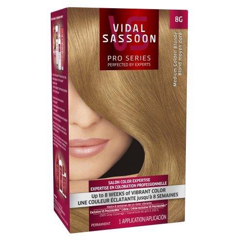 Vidal Sassoon Pro Series Hair Color, 8G Medium Golden Blonde, 1 Kit by Vidal Sassoon