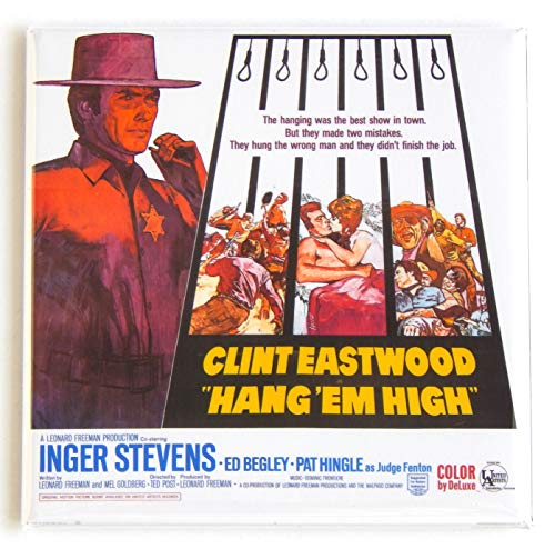 Hang 'Em High Movie Poster Fridge Magnet (3 x 3 inches)