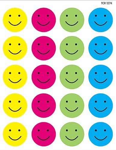 Teacher Created Resources Happy Faces Stickers 1274