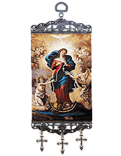 Religious Gifts The Blessed Virgin Mary Undoer of Knots Tapestry Icon 9 3/4 Inch ()