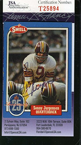 SONNY JURGENSEN JSA COA Autographed 1988 SWELL Authenticated Hand Signed