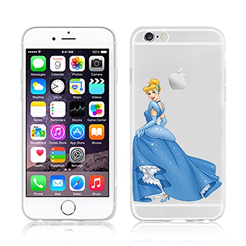 NEW DISNEY PRINCESSES TRANSPARENT CLEAR TPU SOFT CASE FOR APPLE IPHONE 7 - CINDERELLA 5