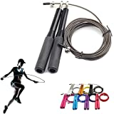 Suki Chris Jump Rope Portable Weighted for Boxing MMA Fitness Training – Non-slip Aluminum Handles Adjustable Wire Jump Rope (Black) Review