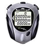 BizoeRade Professional Sports Digital Stopwatch 60 Lap Memory Stopwatches Countdown Timer with Backlight, Clock, Metronome, Waterproof for Coach,Referee,Training,Running