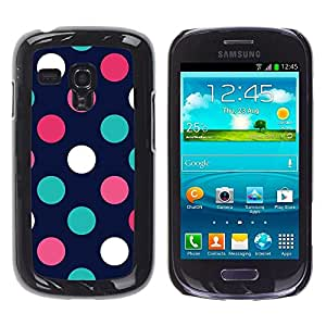 Design for Girls Plastic Cover Case FOR Samsung Galaxy S3 MINI 8190 Polka Dot Navy Blue Pink Orange Teal OBBA