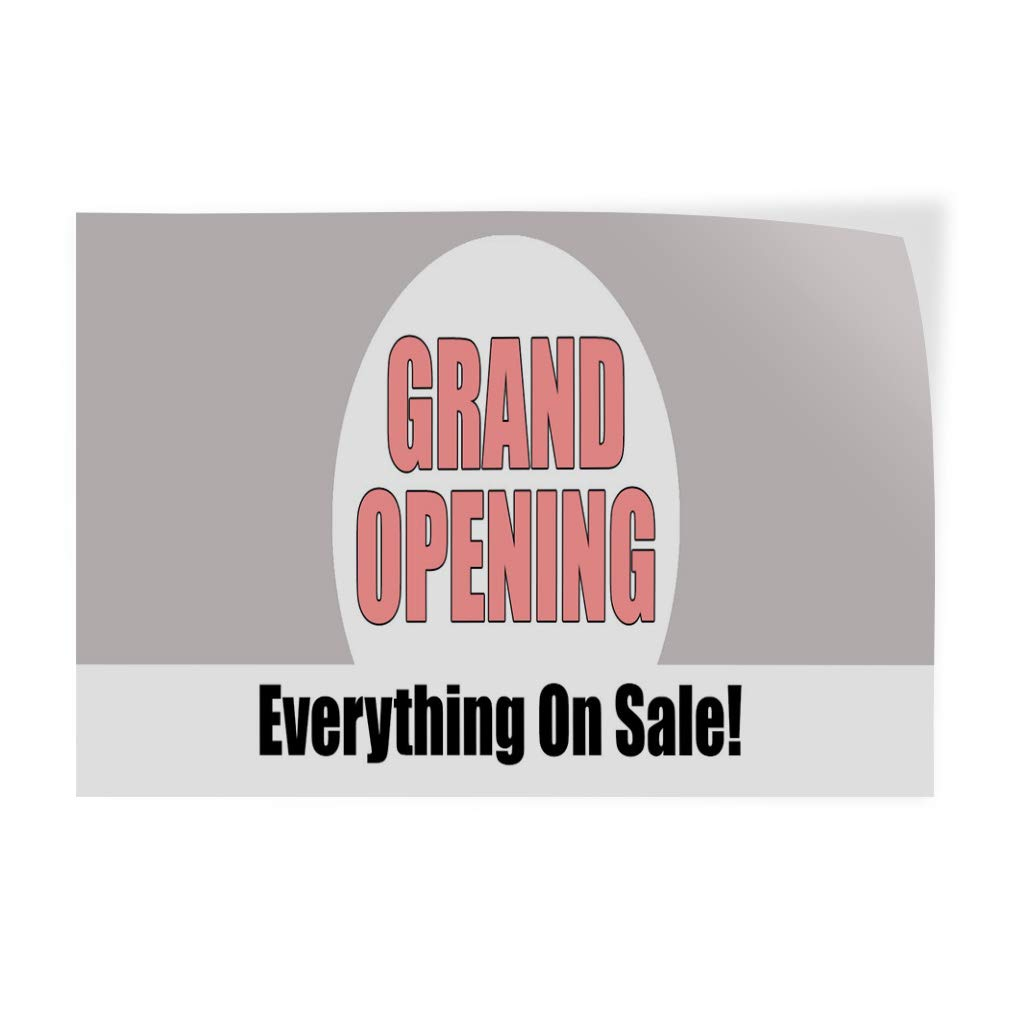 Business Welcome Sale Outdoor Store Sign Pink Decal Sticker Multiple Sizes Grand Opening Everything On Sale One Sticker 69inx46in