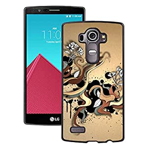 Beautiful LG G4 Cover Case ,Abstract Color Twirls Black LG G4 Phone Case Unique And Durable Designed Screen Case