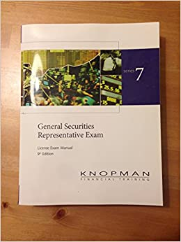 Series 7 (General Securities Representative Exam) 9th Edition