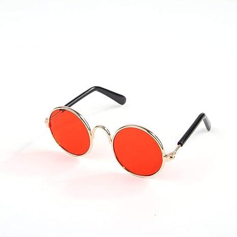 Sanzhileg Mascotas de Moda Gatos Gafas de Sol con Montura de ...