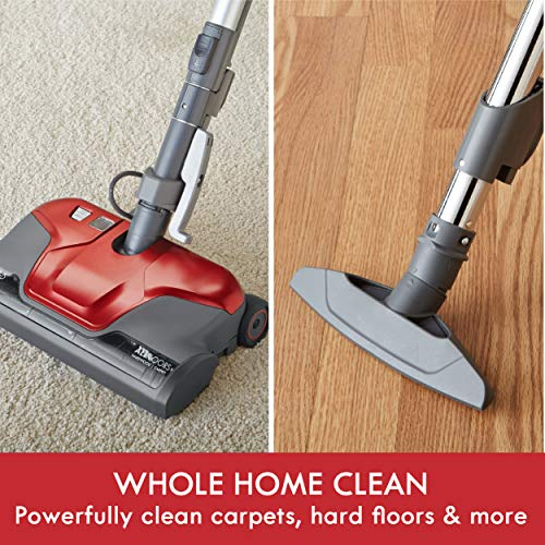 Kenmore 81414 400 Series Lightweight Bagged Canister Vacuum Cleaner with Extended Telescoping Wand,2 Motors, Retractable Cord