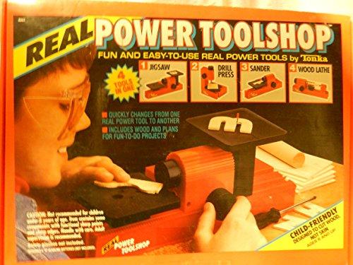 Vintage Tonka Real Power Toolshop Tools Jigsaw Drill Press Sander Wood Lathe