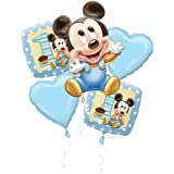 Mickey Mouse 1st Birthday Foil Balloon Bouquet (5pc)