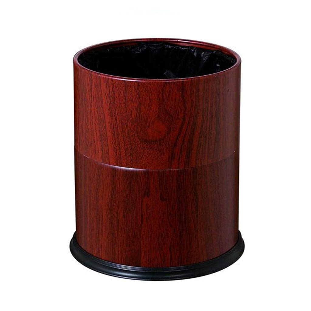CSQ Metal Two-Color Trash Can, Hotel Guest Room Bathroom Kitchen Study Round Trash Can 222227CM Indoor