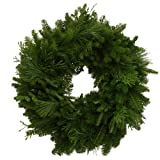 Worcester Wreath 24-Inch Mixed Greens Maine Balsam Wreath