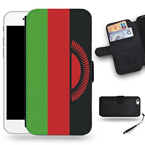SPGCase Phone Accessory // Leather Wallet Case Card Slots Cover Protective Case for Apple Iphone 6 // Malawi (Malawi Housing)