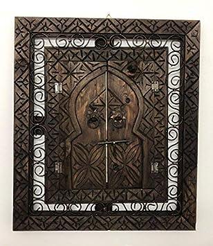 Ethnic Mobel Spiegel Bilderrahmen Wand Aus Holz Geschnitzt Marokko