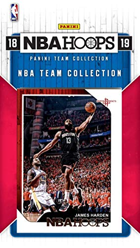 Houston Rockets 2018 2019 Hoops Basketball Factory Sealed 8 Card NBA Licensed Team Set with James Harden, Chris Paul, Eric Gordon Plus