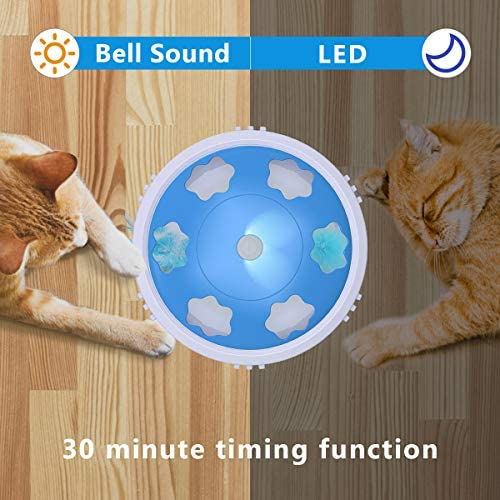 DADYPET Interactive Cat Toy, Electric Cat Toy with Bell Spinning Rotating Feather, Automatic Teaser Exercise Kitten Toy for Cat Entertainment, Training or Hunting(Battery Included) 5