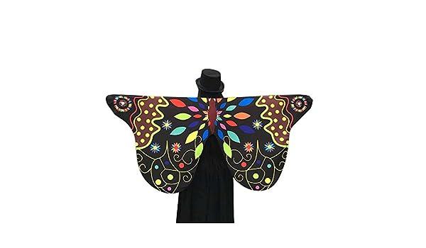 Xmiral Mujeres Disfraz Chal de Alas Estampado Mariposa Capa ...