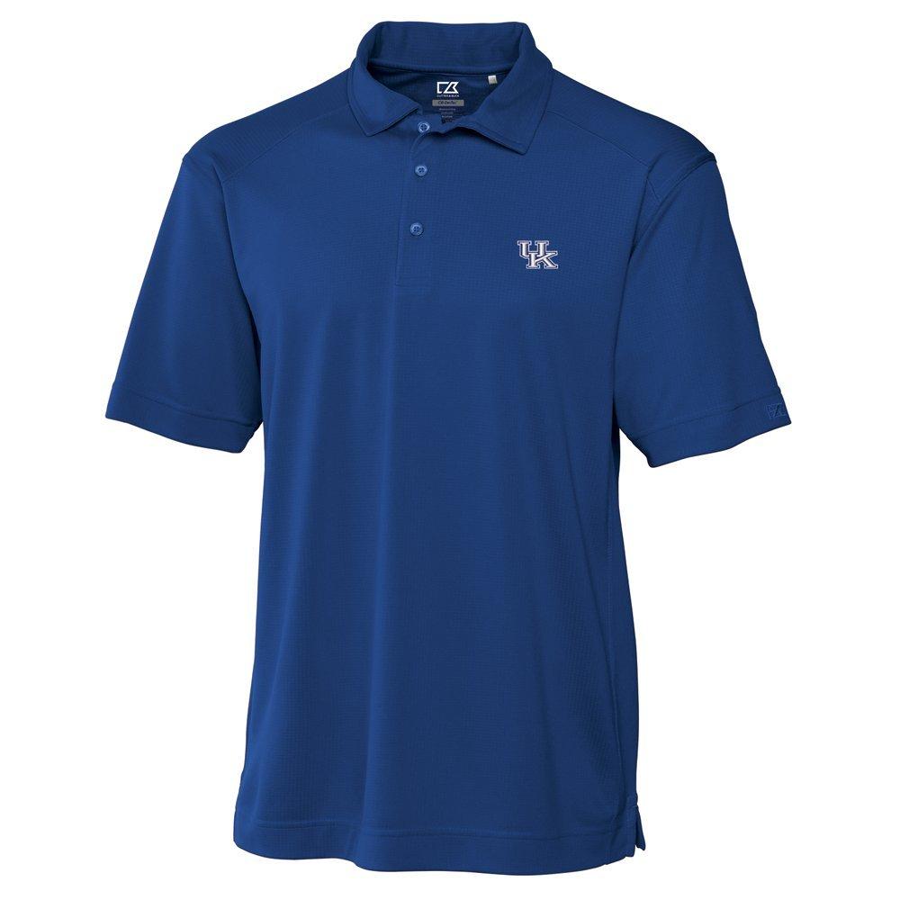 NCAA Men's Kentucky Wildcats Tour Blue Drytec Genre Polo Tee Medium