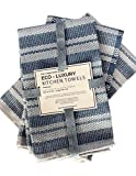 Eco Luxury Kitchen Towels, 100% Cotton Upcycled, Set of 3, 20 x 24