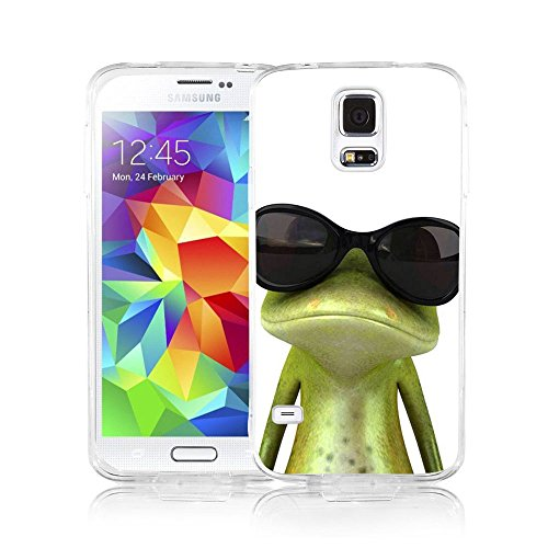 Galaxy S5 Case Viwell Samsung Galaxy S5 Case 2015 Personality Abstract Cool Frog with - Beautiful 2015 Sunglasses