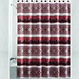 Aztec Sunset Southwestern Fabric Shower Curtain