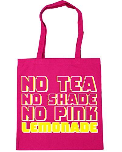 HippoWarehouse Kein tee Keinen lampenschirm Keine rosa limonade Einkaufstasche Fitnessstudio Strandtasche 42cm x38cm, 10 liter - Damen, Fuchsia, One size